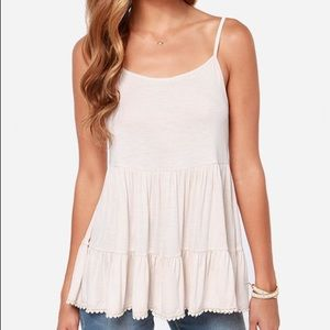 UO The byul tiered cream tank top